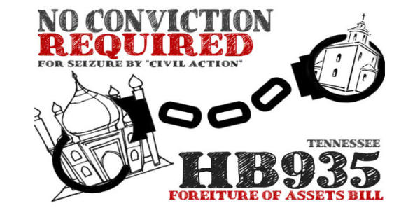 ACTION ALERT on HB935 Forfeiture of Property Law